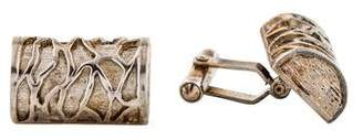 Christian Dior Textured Cufflinks