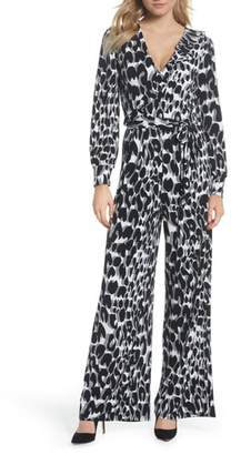 Leota Julie Print Ruffle Jumpsuit