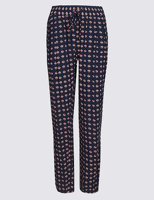Marks and Spencer Geometric Print Tapered Leg Trousers