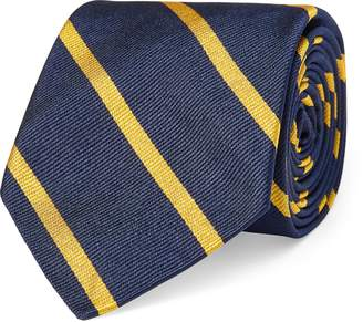 Ralph Lauren Striped Silk Twill Narrow Tie