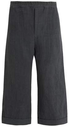 By Walid - Dropped Crotch Cropped Trousers - Mens - Grey