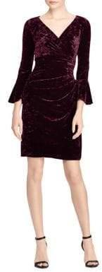 Lauren Ralph Lauren Bell Sleeve Velvet Dress