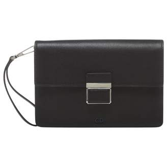 Christian Dior Black Leather Clutch Bag