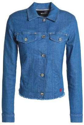 Love Moschino Frayed Denim Jacket