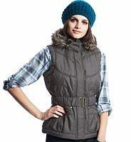Indigo Collection Faux Fur Hooded Gilet