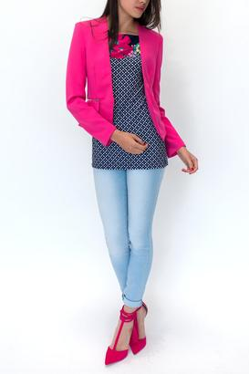 OVI Collarless Pink Blazer $62 thestylecure.com
