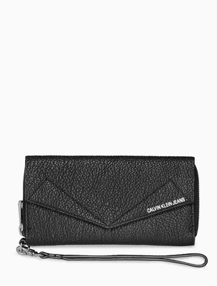 Calvin Klein leather phone zip wallet