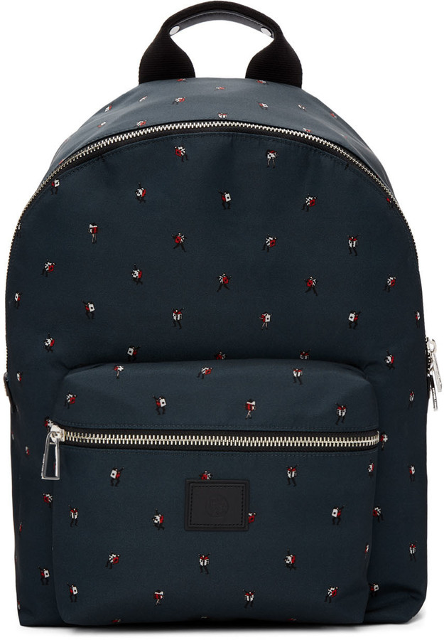 Paul Smith PS by Paul Smith Green 'Dancing Dice' Backpack