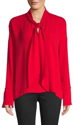 Theory Plunging Silk Blouse