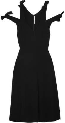 Rosetta Getty Knotted Cutout Crepe Dress - Black