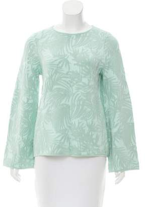 Zac Posen Abstract Jacquard Top