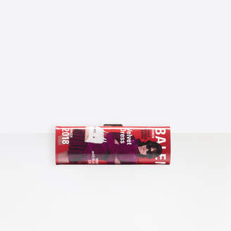 Balenciaga Hard Mag Winter 18 Campaign Clutch in blue and red printed patent leather