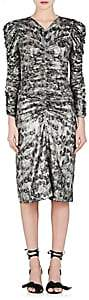 Isabel Marant Women's Damia Silk-Blend Lamé Ruched Dress - Silver