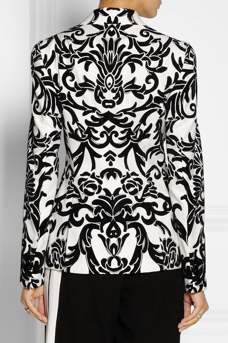 Alexander McQueen Flocked wool and cashmere-blend blazer