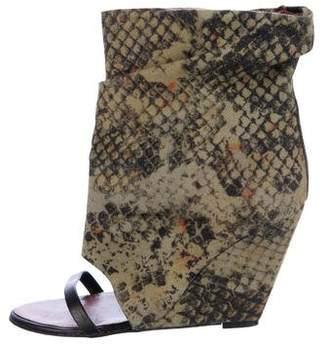 Isabel Marant Canvas Cutout Ankle Boots
