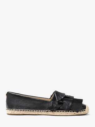MICHAEL Michael Kors Bella Ruffled Leather Espadrille