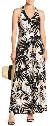 Gabby Skye Crochet Back Printed Maxi Dress