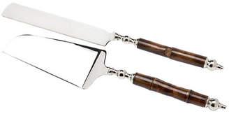 Godinger Silver Art Co 2-Piece Delia Cake & Knife Server Set