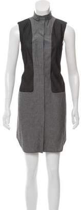Alexander Wang Sleeveless Button-Up Mini Dress