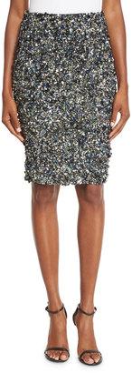 Haute Hippie Mosaic Sequin-Embellished High-Waist Skirt, Multi $429 thestylecure.com