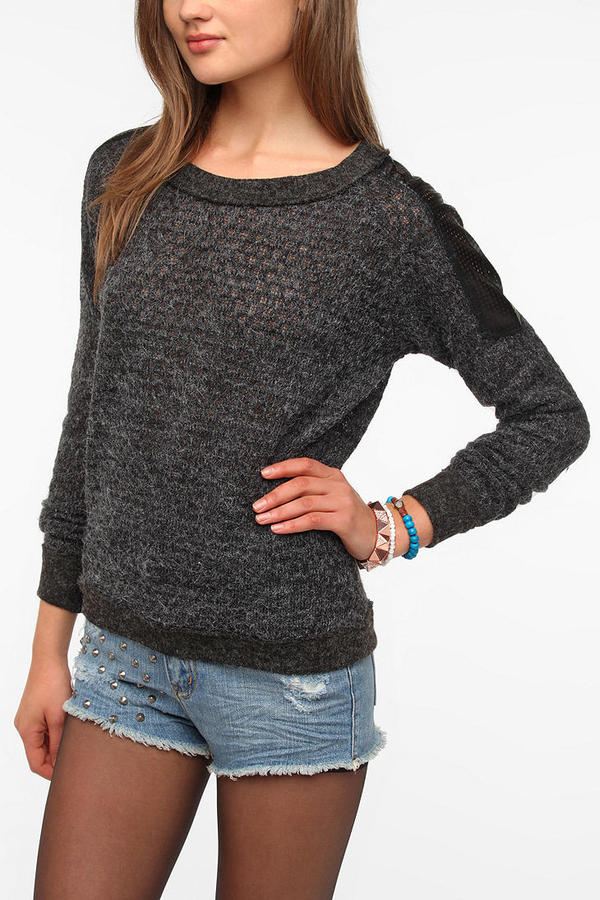 Urban Outfitters Lucca Couture Shoulder Patch Sweater