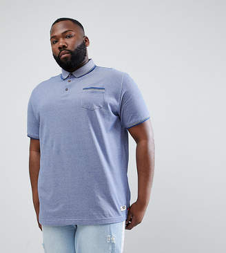 Duke King Size Polo Shirt With Pocket In Blue Marl