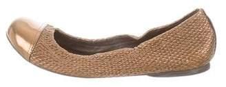 Tory Burch Metallic Cap-Toe Flats