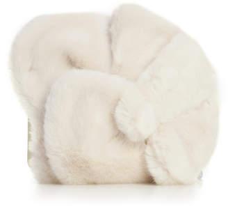 DELPOZO Lotus Faux Fur Clutch
