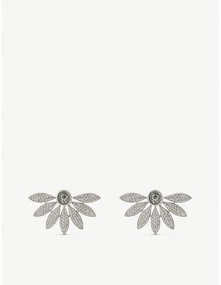 Burberry Half daisy studded crystal earrings