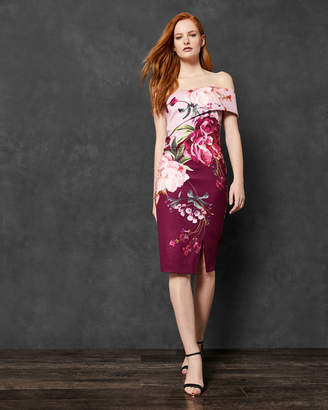 Ted Baker IRLINA Serenity one shoulder dress