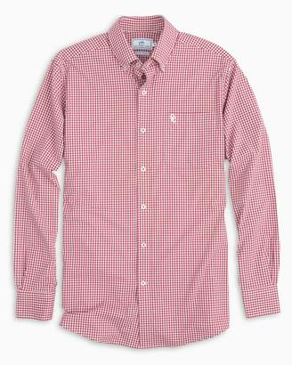 Southern Tide Gameday Gingham Intercoastal Performance Shirt - University of Oklahoma