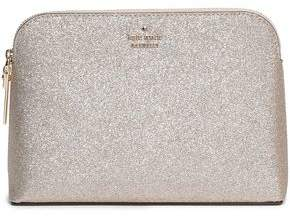 Kate Spade Glittered Faux Leather Cosmetics Case
