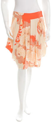 Tracy Reese Silk Pleated Skirt w/ Tags $95 thestylecure.com