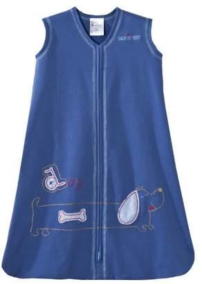 Halo Sleepsack Wearable Cotton Blanket (0 - 6 Months, Small, Dark Blue with Dog)