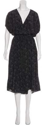 Vince Silk Printed Wrap Dress w/ Tags