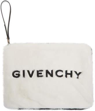Givenchy (ジバンシイ) - Givenchy ブラック & ホワイト フェイクファー GV3 ポーチ