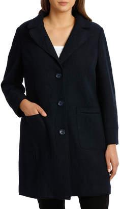 Boiled Wool Longline L/Slv Coat