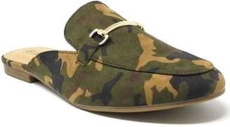 Victoria Women Camo Slip-On Mules Loafer Slipper Flats w/Metal Buckle, Size 6