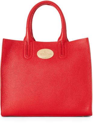 Roberto Cavalli Pebbled Leather Convertible Tote