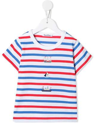 Familiar striped boat print T-shirt