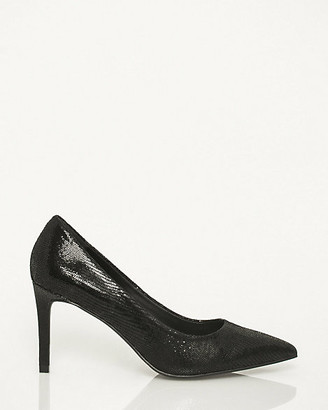 Le Château Snake Embossed Leather Pointy Toe Pump