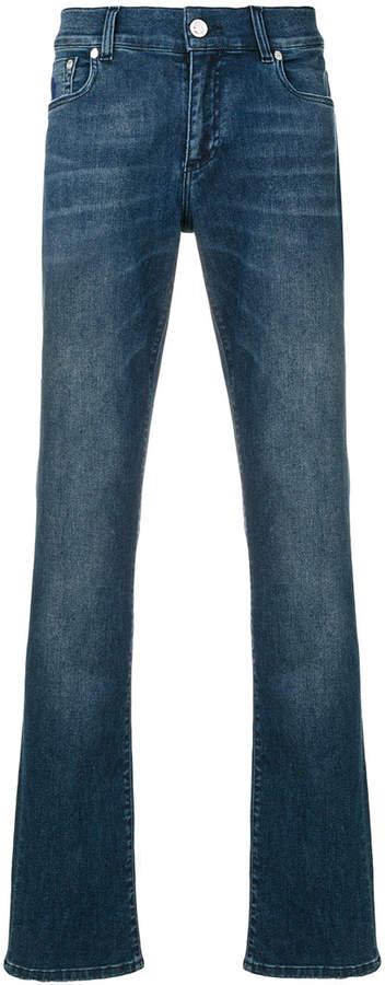 Billionaire logo patch jeans