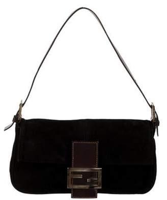 Fendi Suede Baguette Bag Black Suede Baguette Bag
