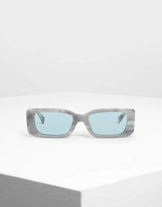 Charles & Keith Thick Frame Rectangle Sunglasses
