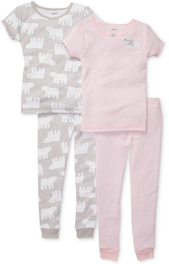 Carter's Baby Pajamas, Baby Girls 4-Piece PJs