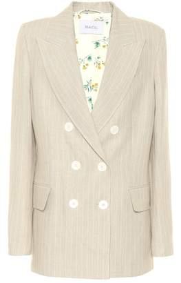 Racil Casablanca linen tuxedo blazer