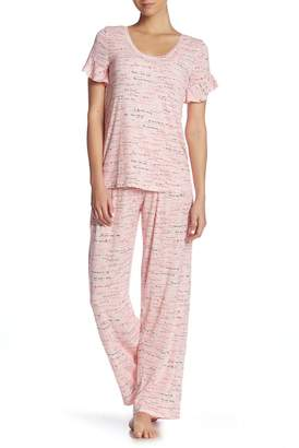 Hue More Than Words 2-Piece Pajama Set