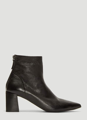 Marsèll Tronchetto Leather Ankle Boots in Black