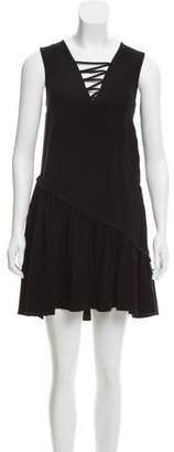 Opening Ceremony Lace-Up Pleat-Accented Dress