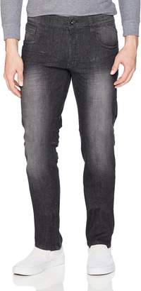 WT02 Young Men's Clean Washed Stretch Denim Pants Pants